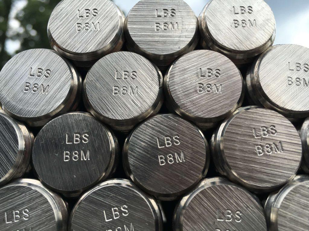 B8M Stainless steel stud bolts, B8 studs, B8M studs, ASTM A193 B8M, ASTM A320 B8M, ASTM A193 B8, ASTM A193 B8M, Class 2, strain hardened