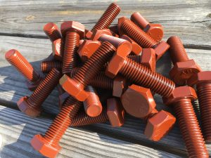 B7 Hex Cap Screws Teflon Brown