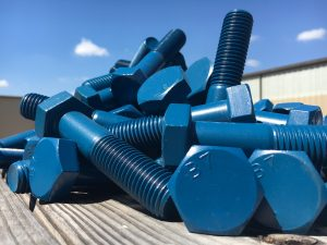 Teflon Blue PTFE B7 Hex Cap Screws