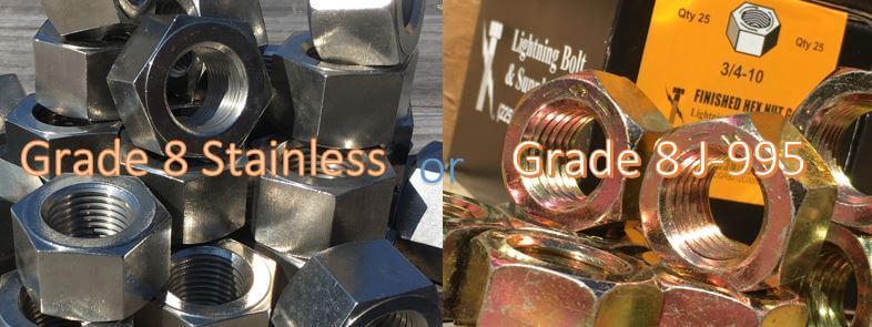 Grade 8 Stainless Nuts & Grade 8 Hardened Nuts